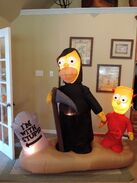 Gemmy inflatable Simpsons Halloween graveyard scene