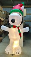 8ft Gemmy Airblown Inflatable Christmas Snoopy In Santa Hat Prototype