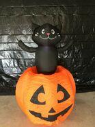 Gemmy Prototype Halloween Inflatable Cat In Pumpkin 1