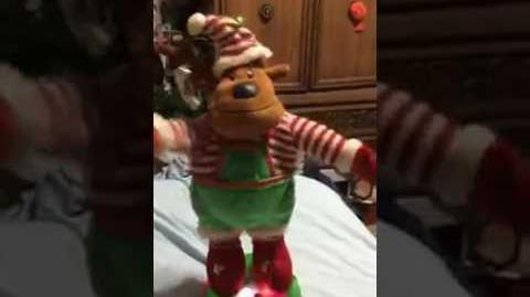 Gemmy animated holiday tabletop dancers-Elf Reindeer (Fully working)