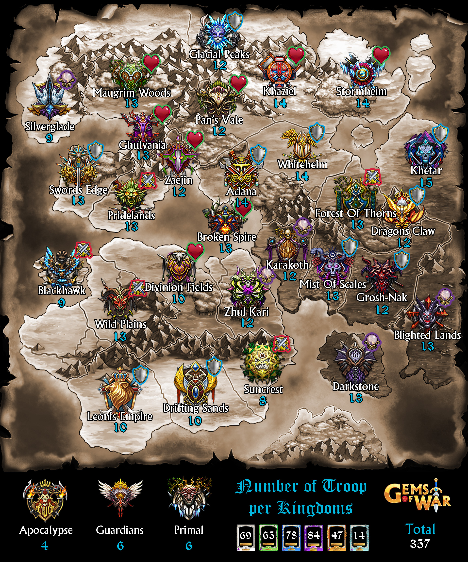Kingdoms gems of war wikia fandom powered by wikia world map gumiabroncs Choice Image