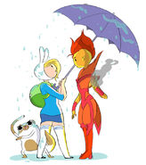 Flame Prince and Fionna