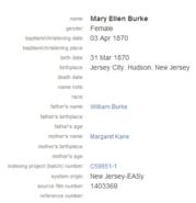 Burke-MaryEllen 1870 birth baptism