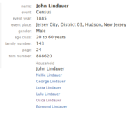 Lindauer-John 1885 NJ census