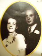 Ray and Joyce Baker wedding 1954