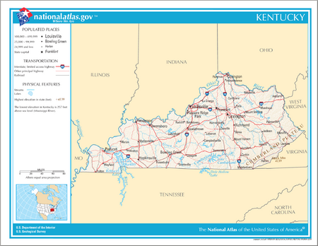 Map of Kentucky NA