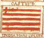 British East India Company Flag from Downman