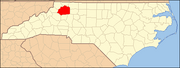 North Carolina Map Highlighting Wilkes County.PNG