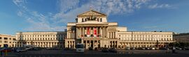 Warszawa Teatr Wielki rzut prostoliniowy