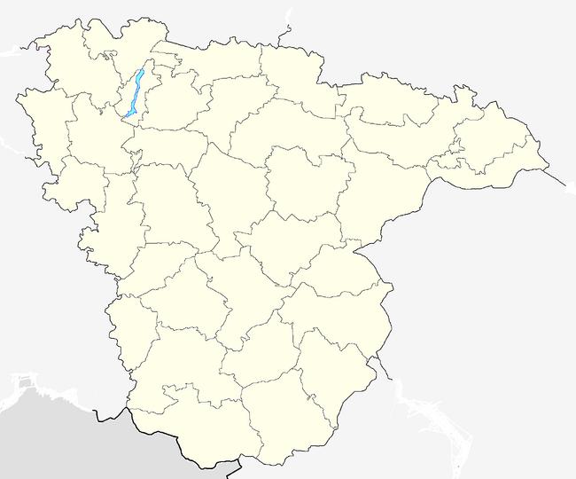 Outline Map of Voronezh Oblast