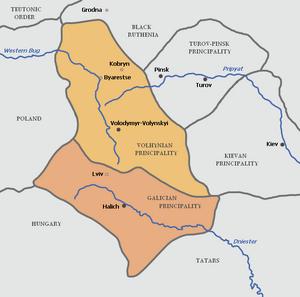 Galicia-Volhynia map