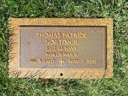 Thomas Patrick Norton gravemarker