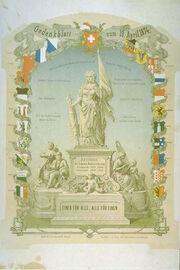 Gedenkblatt 1874