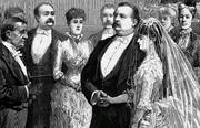 President cleveland wedding