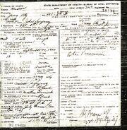 John Szczesny (Casimir) Death Certificate
