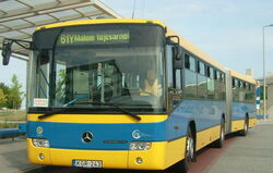 Number 61Y bus in Pécs