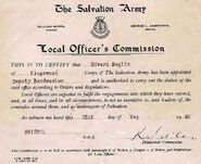 1949 - Edward William Burgess Baglin (1906-1969) Salvation Army Commissioned Deputy Bandmaster