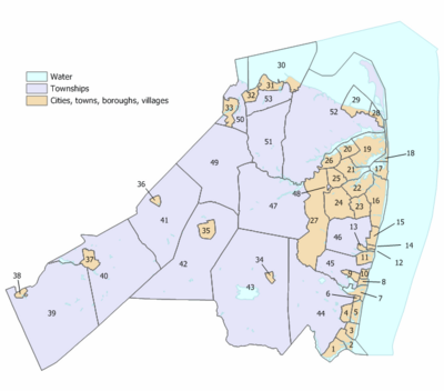 Monmouth County New Jersey Municipalities