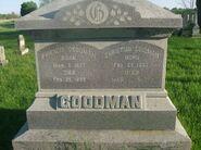 Francis and Christina Goodman memorial stone