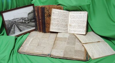 George burgess diary scrapbook and writings