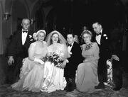 Wedding of Ruby Margaret Olson (1924-2011) and Albert Duane Engstrom on April 6, 1949