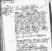 Marriage of Johann Jacob Lindauer I (1725-1812) and Margaretha Salome Schropp (1735) on April 16, 1766 in Strasbourg