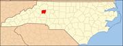 North Carolina Map Highlighting Alexander County.PNG