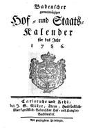 Hof und Staatskalender (1786)