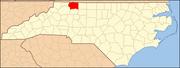 North Carolina Map Highlighting Surry County.PNG