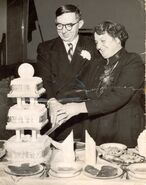 Silver Wedding 1956 - Edward William Burgess Baglin and Florence Eveline Jenner