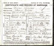 Czeslaw Szczesny Stefanie Gorska marriage