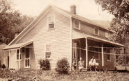 Home of Bertha Piatt and Floyd Griffin in July 1929 in Westbrookville, Mamakating Township, New York