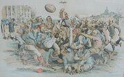 Harrison Football Political Cartoon
