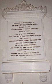 Northleigh church tablet