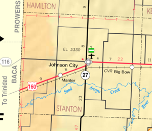 Map of Stanton Co, Ks, USA