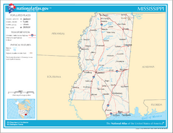 Map of Mississippi NA