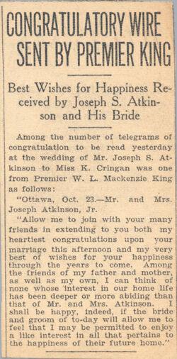Premier king's congratulations edited