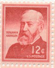 BenjaminHarrisonUSpostageStamp12cents