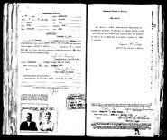 Lattin-Jarvis 1920 passport back