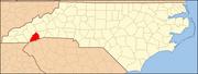 North Carolina Map Highlighting Transylvania County.PNG