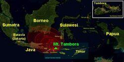 1815 Tambora Sumbawa explosion path large