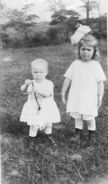 Borghild and Edith Christensen circa 1920
