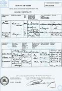 Ricahrd Marks (1844-1907) Death Certificate