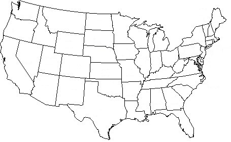 united state map outline - Goal.blockety.co