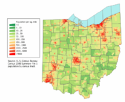 Ohio population map