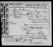 Jensen Olsen 1877 marriage