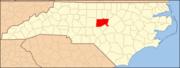 North Carolina Map Highlighting Chatham County.PNG