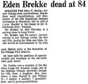 Brekke-Eden obituary