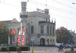 Wroclaw ulPilsudskiego dworzec PKP