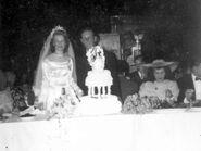 Margaret & Joseph Szczesny with Wedding Cake